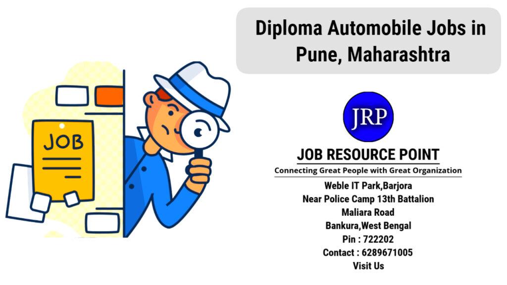 Diploma Automobile Jobs in Pune, Maharashtra,