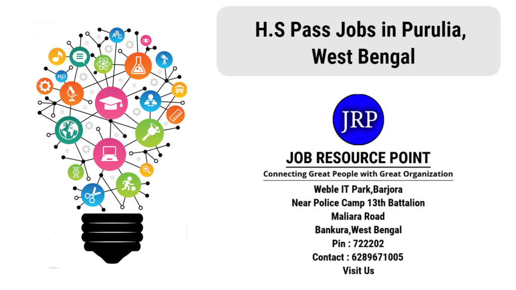 H.S Pass Jobs in Purulia, West Bengal - Apply Now