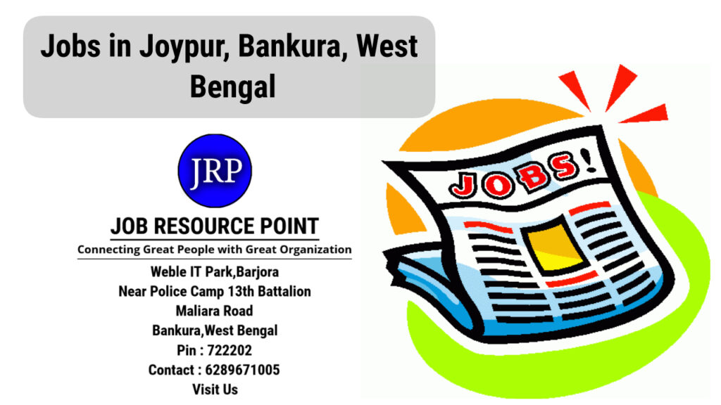 Jobs In Joypur Purulia West Bengal Apply Now